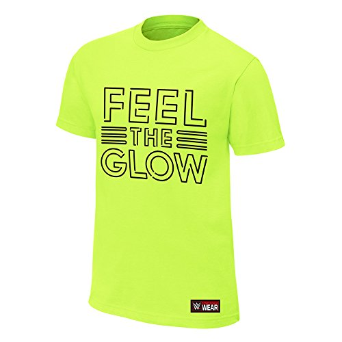 WWE Naomi Feel The Glow Neon Youth Authentic T-Shirt Lime Green Medium by WWE Authentic Wear