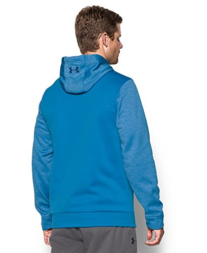 Under Armour Men's Storm Armour Fleece Twist Hoodie, Brilliant Blue/Midnight Navy, Large by Under Armour (Image #1)