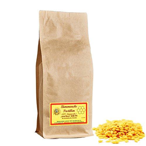 100% Bienenwachspastillen DAB10 f. Kosmetik (250 g) Bienenwachs Pastillen 3050PH Naturprodukte-MV