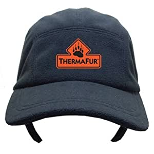 THERMAFUR Air Activated Heated Baseball Cap with Ear Flaps with 2 Pairs of HEAT PAX