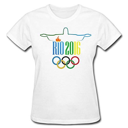 XHAND Women's The 2016 Summer Olympics Games of the XXXI Olympiad Soft T-Shirt white L