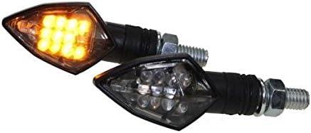 smoke Grey LED Mini Blinker RACE schwarz get/önt f/ür Motorrad Roller mit E-Nummer