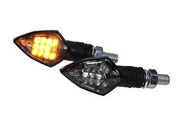 LED Mini Blinker TEO rauchgrau get/önt f/ür Motorrad Roller mit E-Nummer smoke grey
