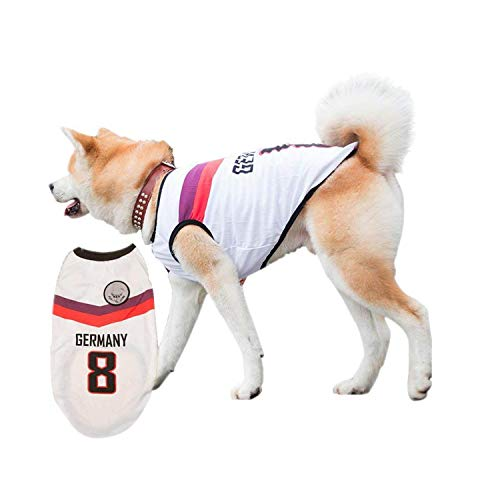 - Siray World Cup FIFA Germany National Soccer Team Pet Jersey Dogs Costume Football T-Shirt Dog Clothes(Size:4XL)