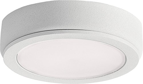 Kichler 6D24V27WHT 6D Series Cabinet Puck, 1-Light LED 4 Watts, Textured White