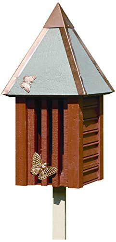 Heartwood 095C Flutterbye Butterfly House (Cypress Redwood Birdhouse)