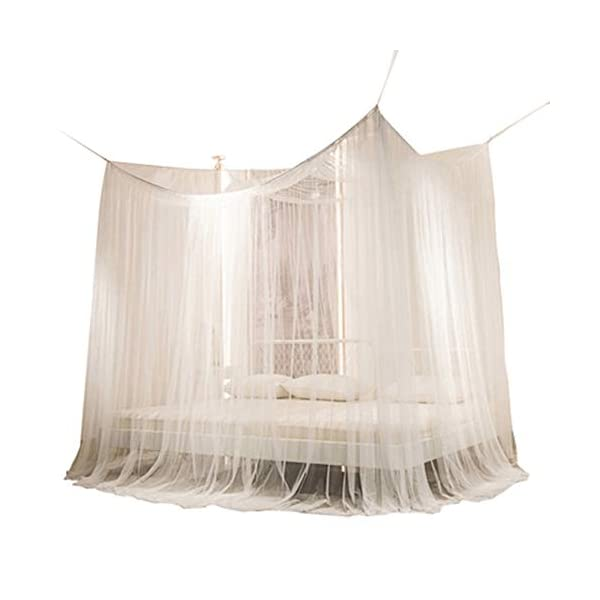 Bulawlly 4 Letto d'angolo Messaggio Tende, Tende per Lettino con zanzariera Tenda, Tenda Naturale in Cotone di Lettura… 1 spesavip