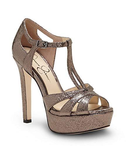 Jessica Simpson Women's Bryanne, Titanium, 7.5 Medium US (Platforms Leather Jessica)