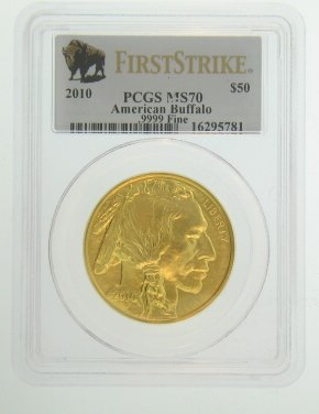 2010 W American Gold Buffalo Coins $50 MS70 PCGS