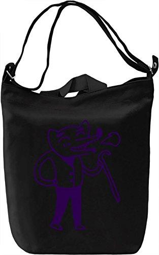 Doodle fox Borsa Giornaliera Canvas Canvas Day Bag| 100% Premium Cotton Canvas| DTG Printing|