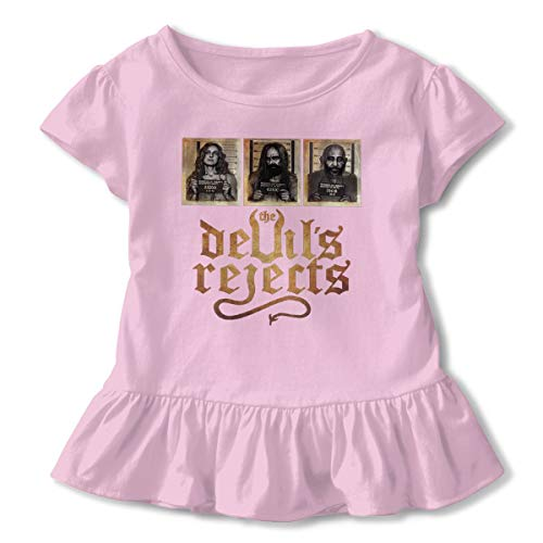 KAMEOR Design Lovely Tee Shirt The Devil's Reject Captain Spaulding Rob Zombie New Underdress T-Shirt for Girl's Pink