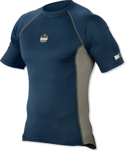mance Work Wear 6410 Short Sleeve Shirt, Navy, 3X-Large (Ergodyne Core)