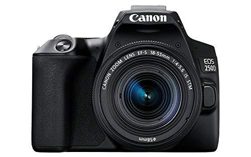 Canon EOS 250D + EF-S 18-55mm f/4-5.6 IS STM SLR Camera Kit 24.1 MP CMOS 6000 x 4000 pixels Black – Canon EOS 250D + EF…