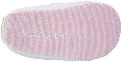 Ralph Lauren Bailey Layette, Mocasines para Bebés Pink (Light Pink Canvas w/ cream pp)