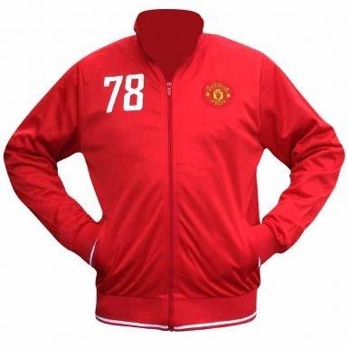Manchester Utd Crest Tracktop for Training or Leisurewear (United Jacket Training)