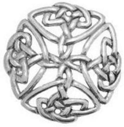 Celtic Large Pewter Brooch