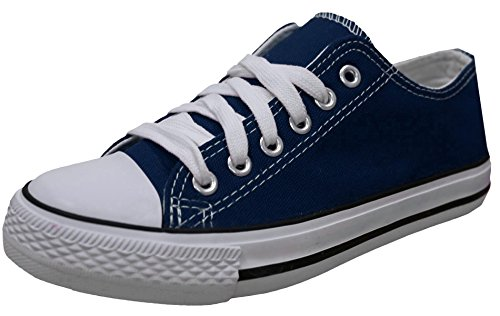 Navy Canvas Sneakers (S-3 Women's Low Top Classic Canvas Fashion Sneaker (10 B(M) US, Navy))