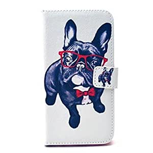qyf Happy Dog Pattern PU Leather Full Body Case with Stand and Card Holder for Samsung Galaxy S6 Edge