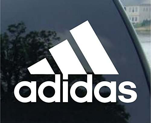 "Adidas Decal 6"" White Sticker"