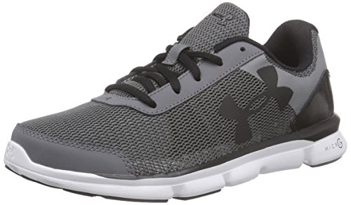 Under Armour Ua Bgs Micro G Speed Swift - Zapatillas de running Niños Gris - Grau (GPH/WHT/BLK 40)