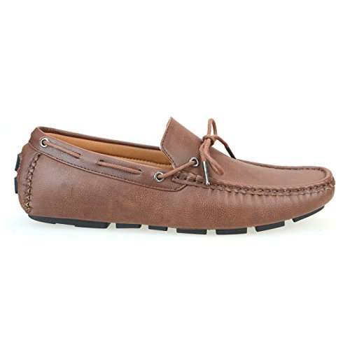 AN by LUCIUS Mens Driving Casual Shoes Slipon Loafer Shoes Beige Black Blue Brown Camo Camel Navy Red White