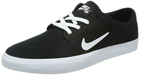 Nike Mens SB Portmore CNVS Black/White Skate Shoe 9 Men US