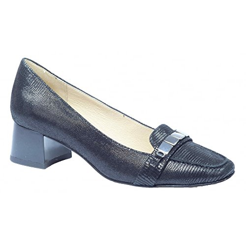 Womens Elodie Leather Slip On Court Shoe 9-9-24301-28 010 Black