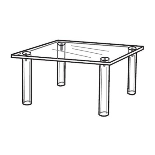 Acrylic Square Table For Counter Tops - 10'' x 10'' x 7''h by The Competitive Store (Image #1)