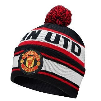 Manchester United F C Knitted Bobble Hat Amazon Co Uk