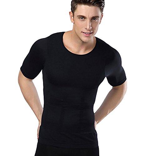 意欲プラスチック容赦ないMURA(ムラ) 加圧インナー 加圧シャツ メンズ 姿勢矯正 コンプレッションシャツ 猫背矯正 (XL, ブラック)