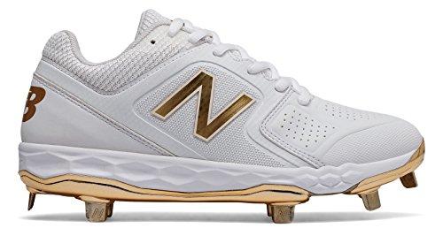 New Balance Women's Velo V1 Metal Softball Shoe, White