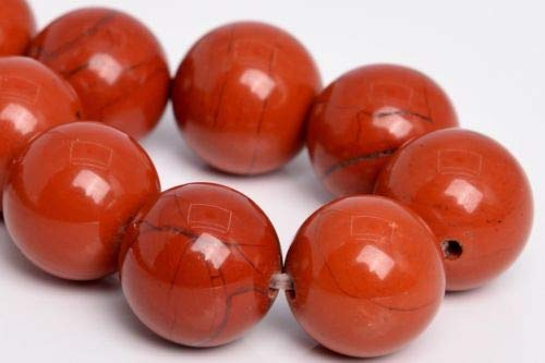 (12mm Natural Red Jasper Beads Grade Round Gemstone Loose Beads 7.5'' Crafting Key Chain Bracelet Necklace Jewelry Accessories Pendants)