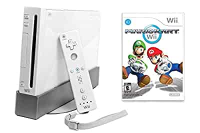Wii console with mario kart wii bundle white - Wii console mario kart bundle ...