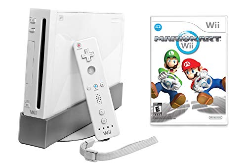 Wii Console with Mario Kart Wii Bundle - White (Certified Refurbished)