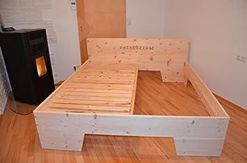 Zirbenbett Zirbenholzbett Bett Aus Zirbenholz Amazonde Küche