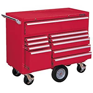Kennedy Manufacturing 4410R 10-Drawer Cabinet, Red - Tool ...