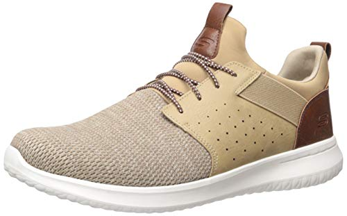 Skechers Men's Classic Fit-Delson-Camden Sneaker,light brown,8.5 M US