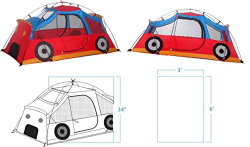 Kiddie Coupe Tent - The Kiddie Coupe 4 Fiberglass Poles Large Mesh Windows