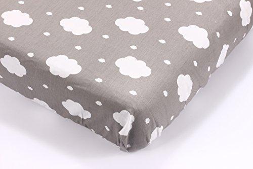 Kolamom Premium Fitted 100% Cotton Knit Crib Sheet Toddler Nursery Bedding for Boy or Girl Ideal Baby Shower Gift, Dusk (Dusk Crib)