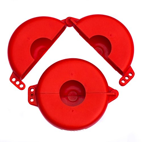 Lockout Safety Supply 7246 Gate Valve Lockout, 5'' - 6.5'' Wheel, Red by Lockout Safety Supply (Image #1)