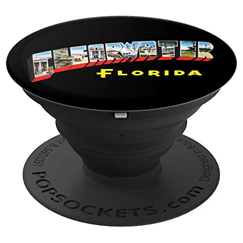 Clearwater Florida FL Vintage Retro Souvenir PopSockets Grip and Stand for Phones and Tablets ()