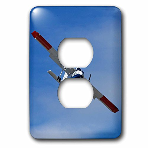 3dRose Danita Delimont - Aircraft - Light tourist plane landing at Queenstown Airport, Otago, New Zealand - Light Switch Covers - 2 plug outlet cover - Queenstown Outlet