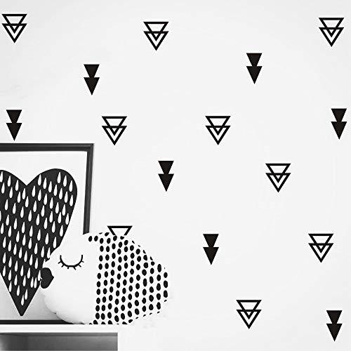 Set of 44 pcs Triangles Modern Arrow Pattern Wall Sticker-DIY Home Wall Decal for Kids Boys Baby Bedroom -Art Vinyl Wall Decor Mural YYU-15 (Black)