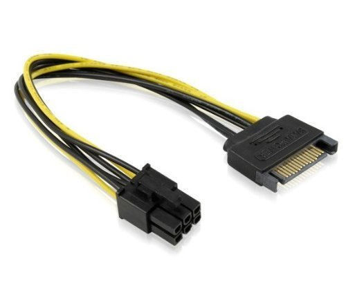 Cable  SATA 15pin to 6pin PCI Express Card Power Cable