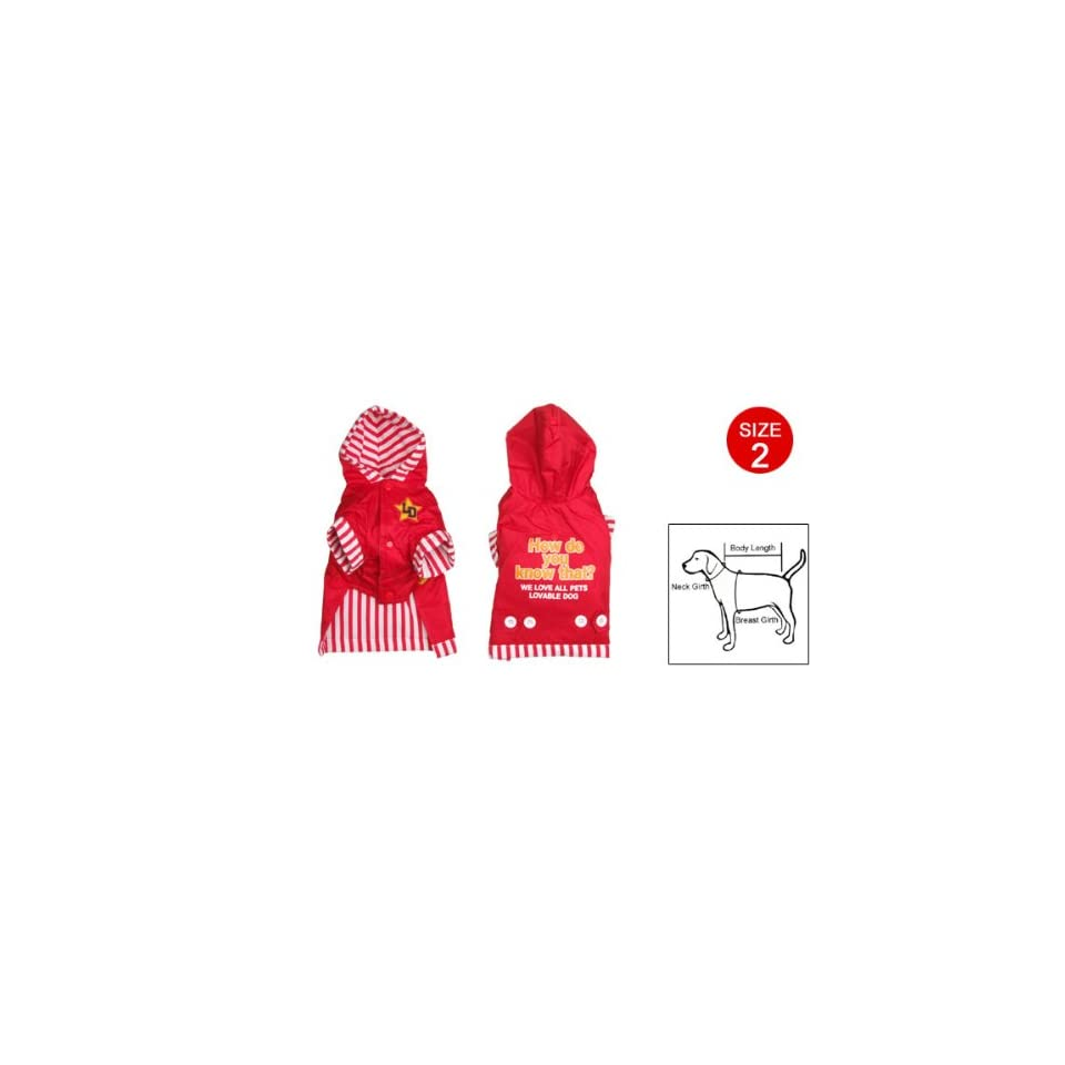 Dog Clothes Apparel Pet Clothing w. Hat Red Size 2