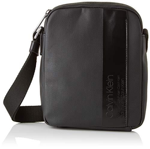 (Calvin Klein Elevated Mix Mini Reporter, Men's Shoulder Bag, Black, 5x21x17 cm (B x H T))
