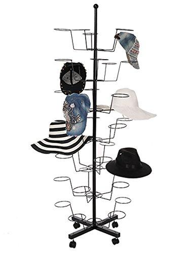 flabor ajustable y giratoria sombrero soporte 7 capa con 4 ruedas ...