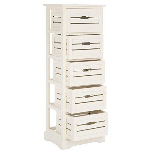 Safavieh Samara Storage 5-Drawer Cream Cabinet | Elegant Styling Combined with Fine Craftsmanship