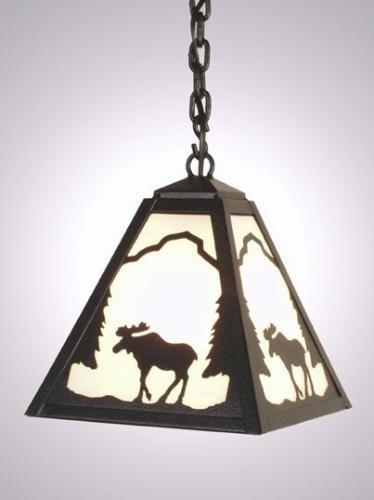 Timber Ridge Moose Pendant (Ridge Handcrafted Lamp)