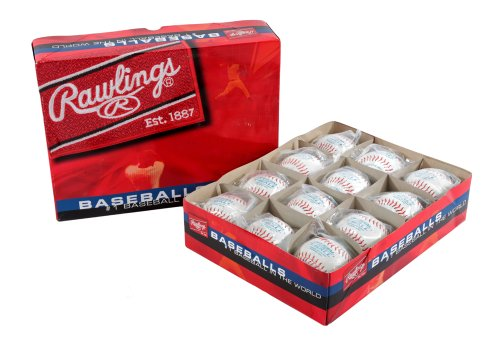Rawlings Youth Tball or Training Baseball, Box of 12 T-balls, TVB